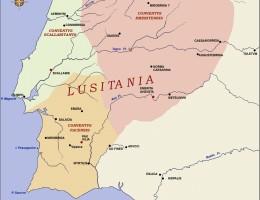 Mapa de la provincia Lusitania.